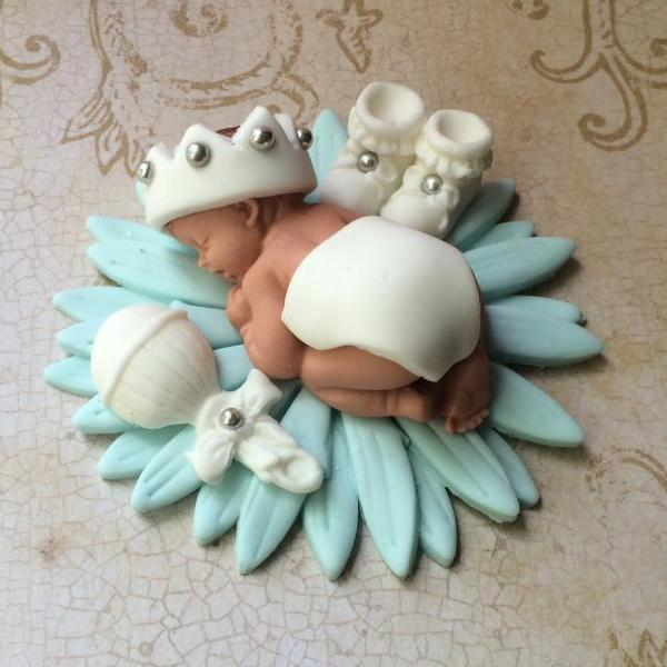 Elephant Safari Baby Shower Cake Topper Fondant Baby On Luulla. Elephant ...