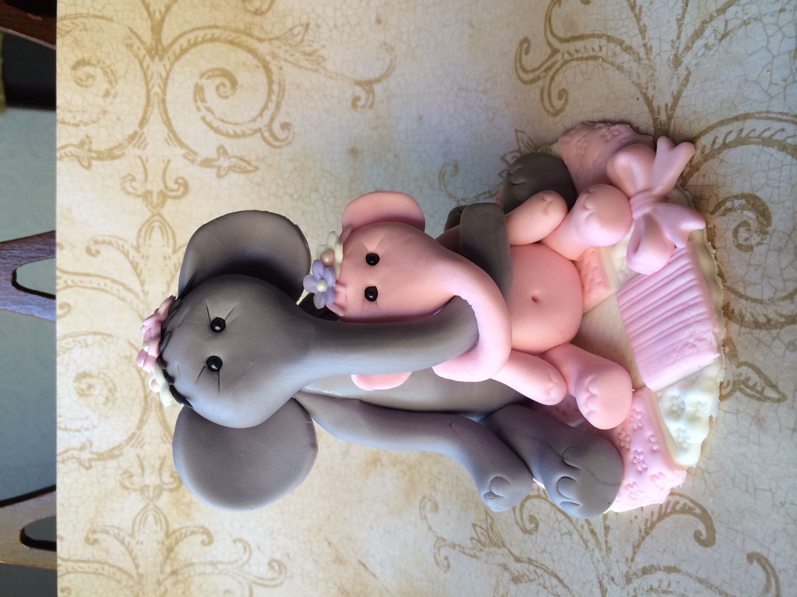 baby shower cake topper fondant baby elephant safari baby shower cake