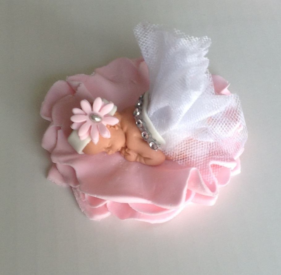 BABY SHOWER CAKE TOPPER FONDANT BABY